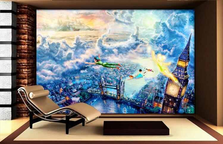 Great ... Beautiful Peter Pan Wall Mural Images Part 27