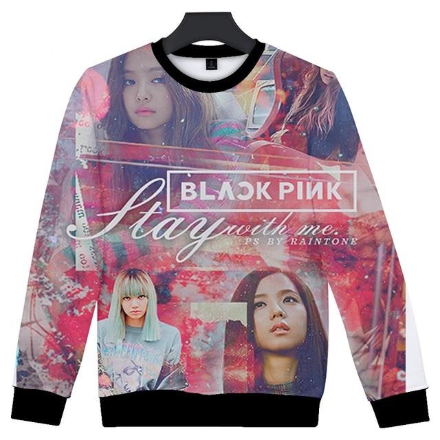 30691827a30b64 Hot Sale 3D BLACKPINK Cool Women Long Sleeve Sweatshirts Casual Popular  Spring Autumn Fashion Print JISOO JENNIE Rose LISA