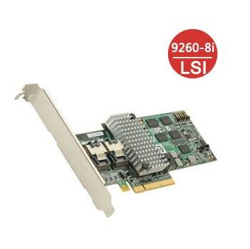 Original - LSI MegaRAID 9260-8i 8 Port 6Gb/s SATA/SAS PCI-Express 2.0 RAID Controller Card 512M - Single  sas card megaraid sas 84016e 16 256mb cache sas array card 100