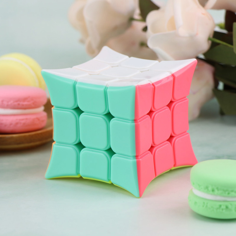 New YJ YongJun Candy Macaron Color 3x3x3 Magic Cube Stickerless Smooth Speed Puzzle Twist Cube For Kids Education Toys Gift