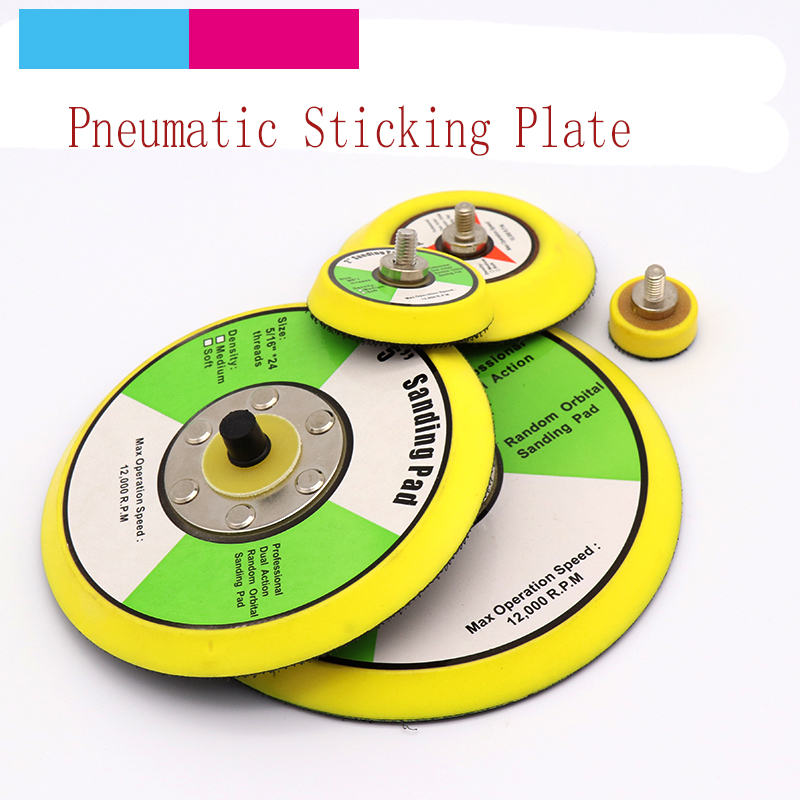 1pcs Polishing Sanding Disc Pneumatic Self-adhesive Suction Cup Pad Sticky Disk 1-6 Inch Sandpaper Sucker For Electric Grinder