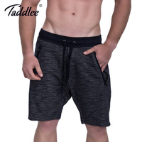 Taddlee Brand Men Shorts Fitness Calf Length Jogger Sweatpants Workout Casual Loose Short Trousers Soft Bottom