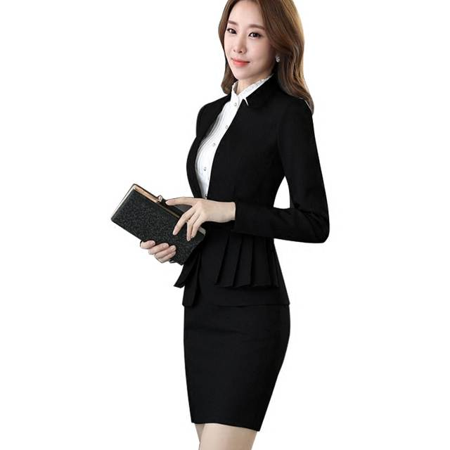 20a030d7be6 placeholder Workwear suit women fall and winter new fashion OL suit long-sleeved  skirt women s suits