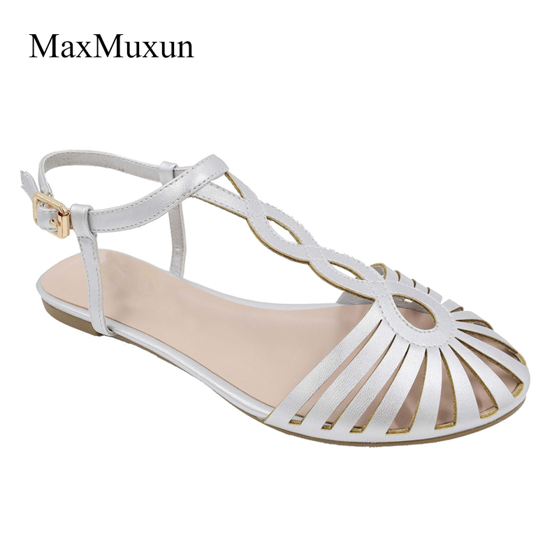 Maxmuxun Gladiator Sandals Women Summer Flats Cute Ladies
