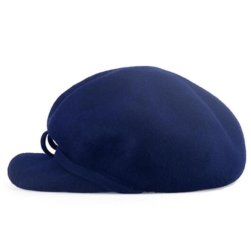 09cca7f04da13 FS 100% mujeres lana sombrero de la boina azul marino sólido Bowknot Baret  de invierno de 2018 elegante sombrero gorras para damas Chapeu feminino  Boina en ...