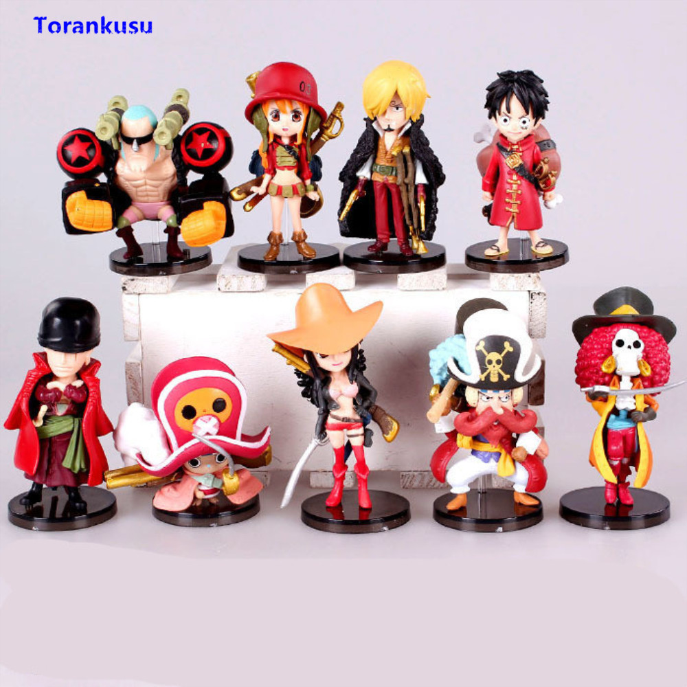 One Piece Figura 9 Style Red Clothes Luffy Figure Zoro