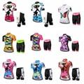 WEIMOSTAR Team frauen Radfahren Kurzarm Jersey Bike Shorts Anzug Sport Tragen Bottom GEL Padded Weibliche Atmungsaktiv