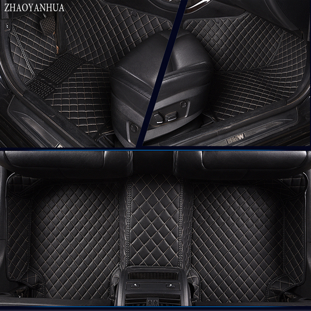 ZHAOYANHUA  car floor mats for Kia Sportage Optima K5 Sorento Carens 5D full cover case car-styling high quality carpet liners new styling leather car seat cover car cushion complete set for kia k4 k5 kia rio ceed cerato sportage optima maxima four season