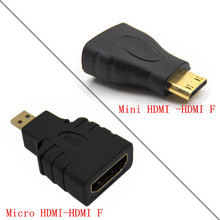 HDMI מתאם מיקרו/מיני HDMI זכר ל hdmi נקבה מתאם M/F מתאם מחבר עבור HDTV מצלמה MP4 MP5 Tablet