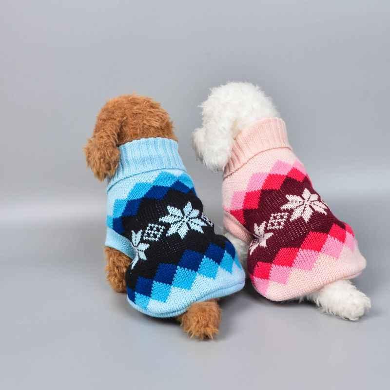 15 kleuren Kerst Winter Hond Jas Kleding Warme Zachte breien Hond Vest Trui Voor Small Medium Honden Klassieke Patroon