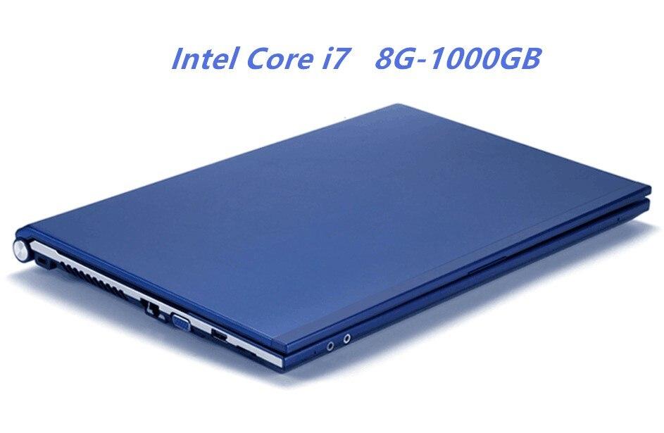 8 gb RAM 1000 gb HDD Intel Core i7 CPU Ordinateur Portable 15.6 1920X1080 p HD Gagner 7/10 notebook PC Gaming Ordinateur avec DVD-RW Pour Home Office