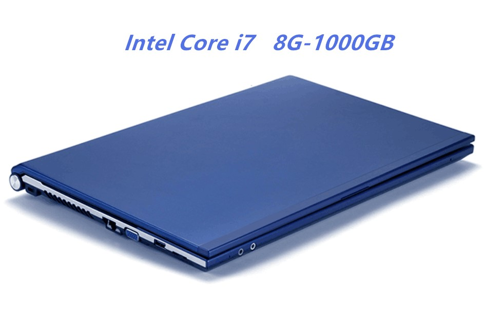 8 gb RAM 1000 gb HDD Intel Core i7 CPU Ordinateur Portable 15.6 1920X1080 p HD Gagner 7/10 notebook PC Gaming Ordinateur avec DVD-RW Pour Home Office