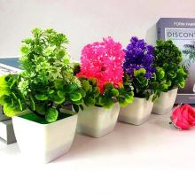 1 шт. искусственный цветок пластиковые растения в горшках бонсай Декор для гостиной и сада