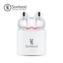 Samload СПЦ наушники bluetooth наушники I7 Air True беспроводной стручки для Apple iPhone 6 7 8 Xiaomi зарядки коробка