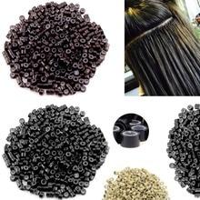 500 шт 5 мм волосы Силиконовые микро кольца силиконовые выстроились микро кольца со звеньями бусины для перьев и человеческих волос для наращивания