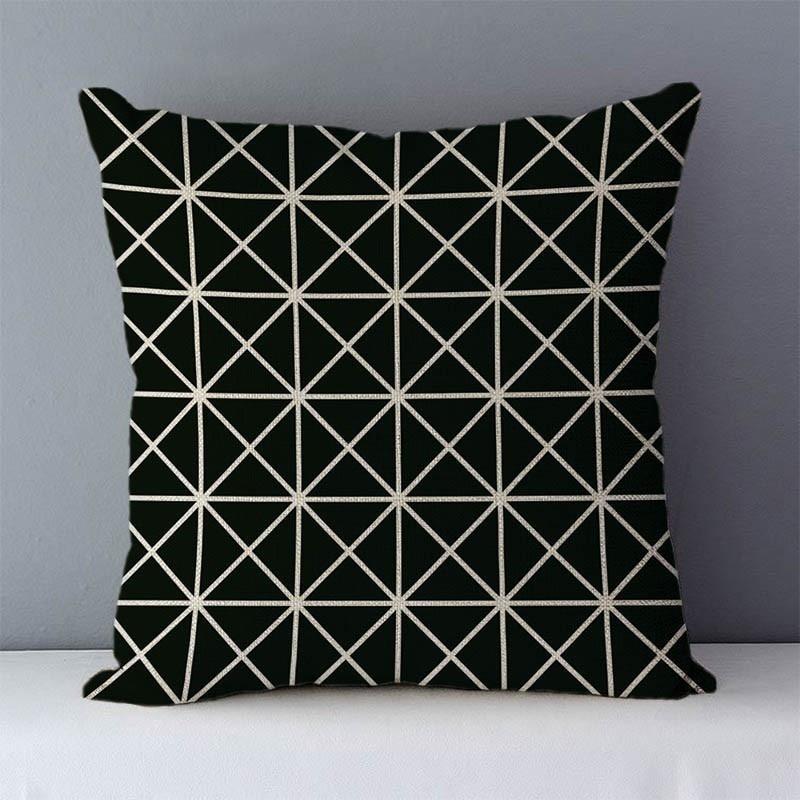 HTB17gejXozrK1RjSspmq6AOdFXaC Quality Cozy Popular geometric couch cushion home decorative pillows cotton linen 45x45cm seat back cushions bedding pillowcase