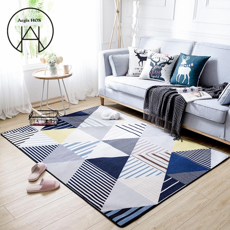 Minimalist Colorful Rug Designs: Nordic Minimalist Modern Style Rug Creative Geometric