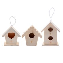 1pc Mini Wooden Bird Nest Garden Hanging Ornament Outdoor Birdhouse Garden Yard Decoration Supplies(China)