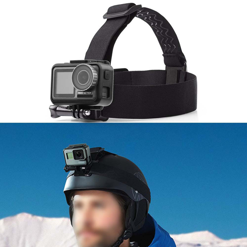 Head Strap Mount Belt Headband Holder For DJI OSMO Action For GoPro Hero Camera Widely used on surfing, skiing, skateboarding, image