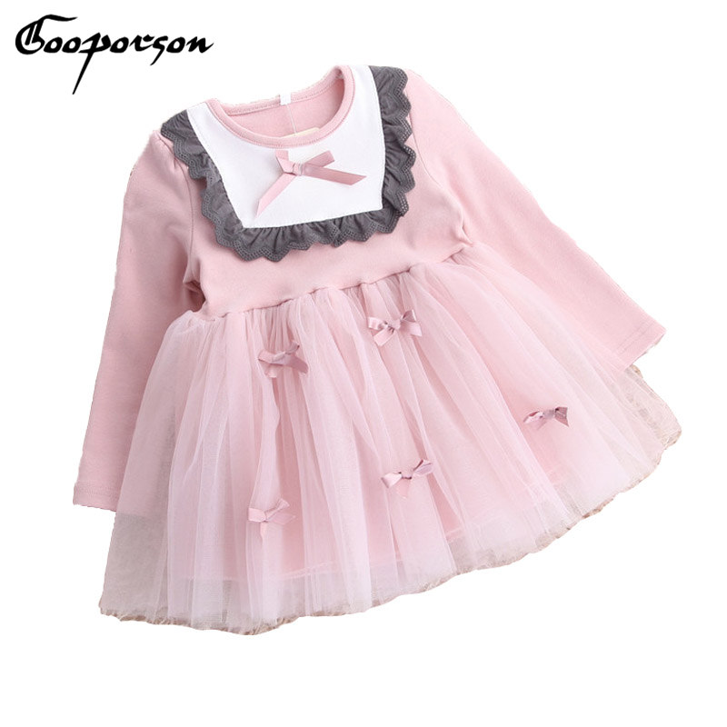 GOOPORSON Girls Autumn Clothes Long Sleeve Tutu Dress For Kids Winter Princess Dress 2017 New Children Clothing Cute Dress girls dress winter 2016 new children clothing girls long sleeved dress 2 piece knitted dress kids tutu dress for girls costumes