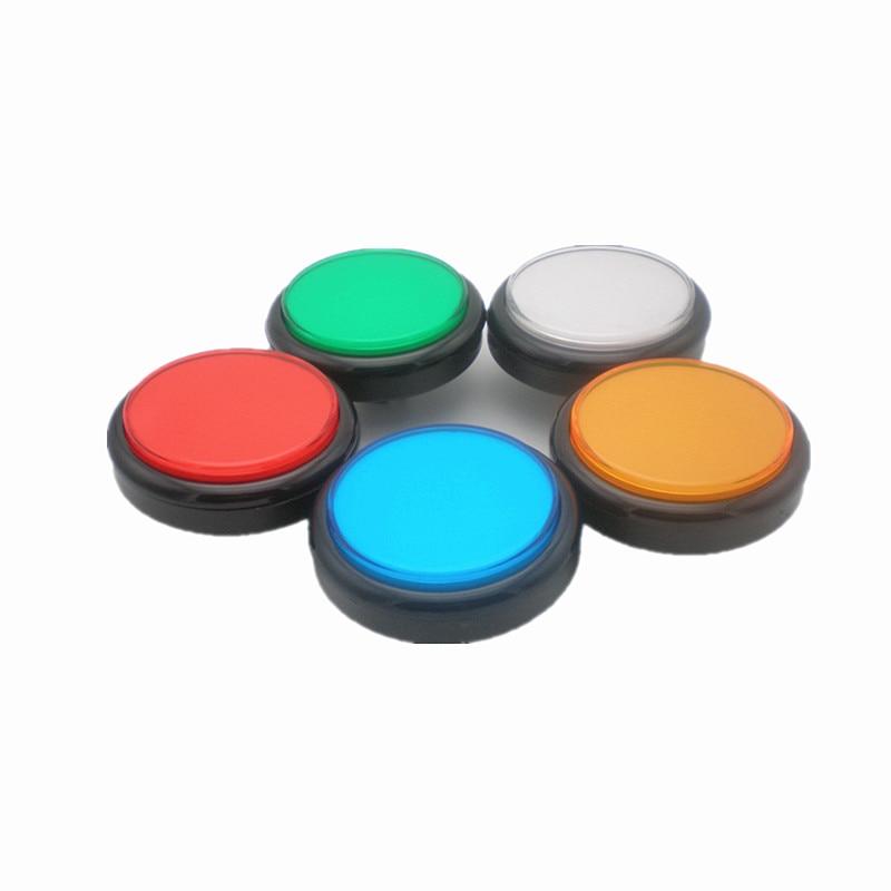 100MM flache Abdeckung dicken Fußschalter mit hochwertigem LED-Licht für Arcade-Spielmaschine fünf Farben erhältlich