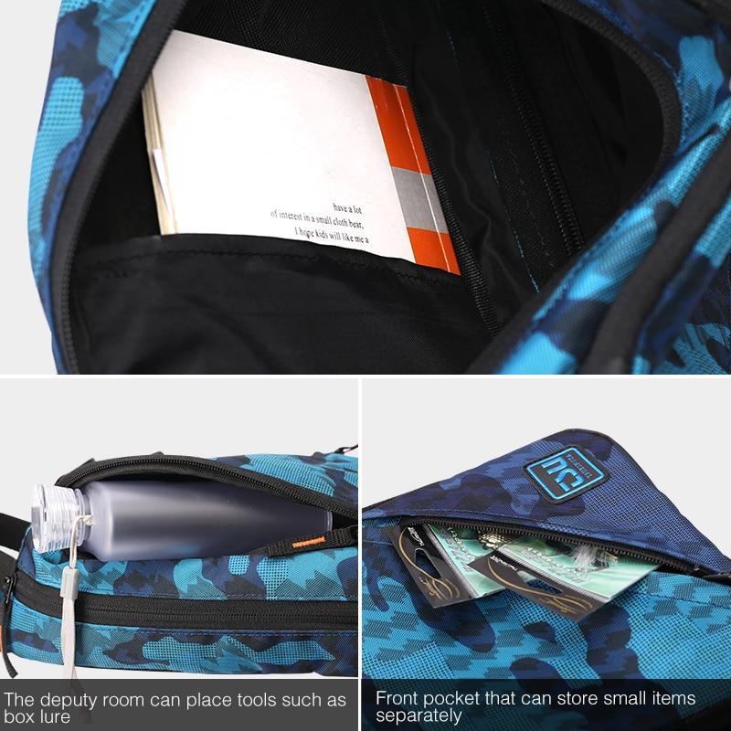Image 4 - TSURINOYA многофункциональная сумка для рыбалки Водонепроницаемая наружная 750D нейлон 32*21*9 см рыболовное снаряжение рюкзак Mochila De Pesca Sac Peche-in Сумки для рыбалки from Спорт и развлечения