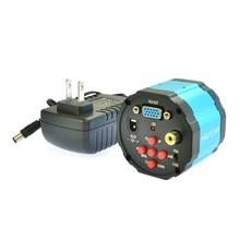2.0MP HD 2 в 1 Цифровой Индустрии Промышленной Камеры Микроскопа Лупа VGA AV TV Видео Выход для ПЕЧАТНОЙ ПЛАТЫ Лаборатории + БЛОК Питания питания