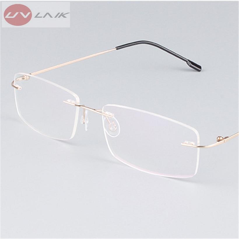 Brillenfassung Randlos Metall Brillengestell Ultraleicht Lesebrille LKO9dLCh