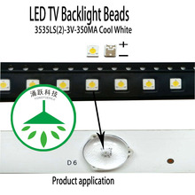 100Pcs/Lot Maintenance led lcd tv backlight common patch original lamp beads 3535 3v 350ma 1w cool white light все цены