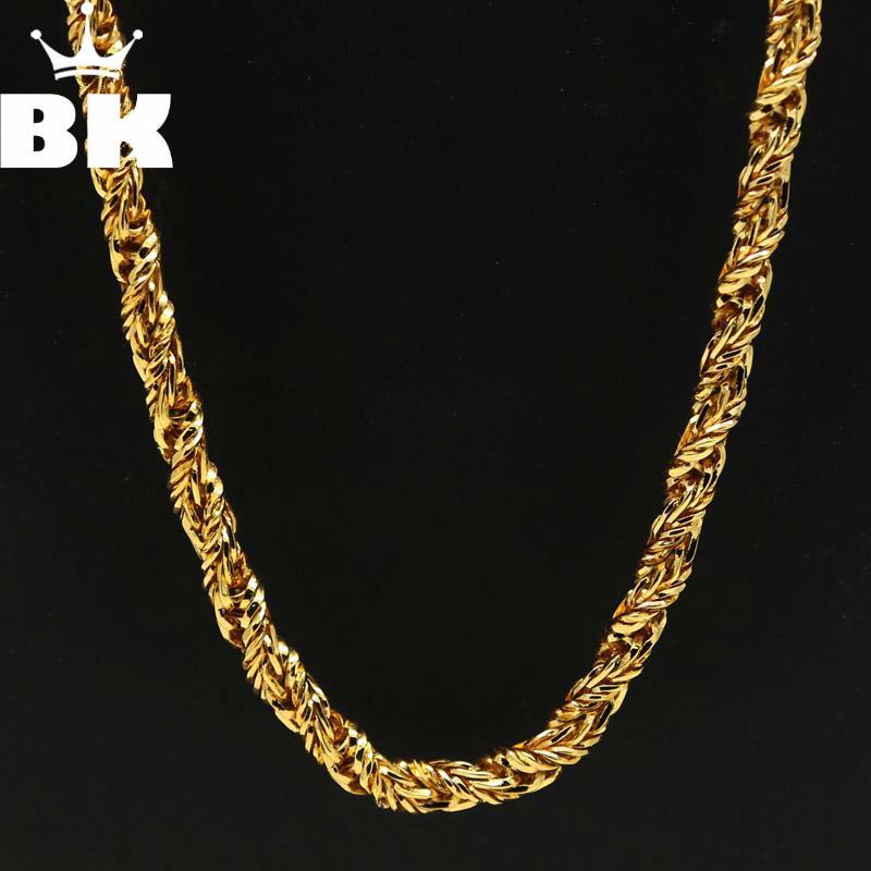7mm Hip Hop Bling Gold...