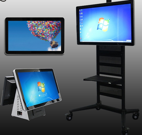 21.5 24 26 28 32 floor inch standing Android Windows OS LED LCD TFT Full HD all in one touch interactive digital signage TV PC