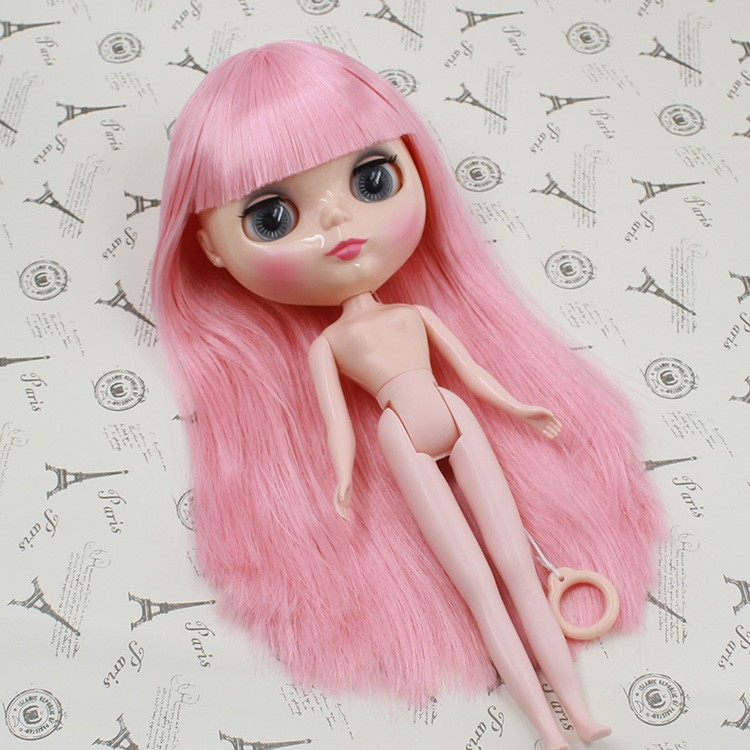 Free shipping Nude Blyth Doll For Series No.J230NY0275 Pink hair with bangs Suitable For DIY Change Toy For Girls все цены