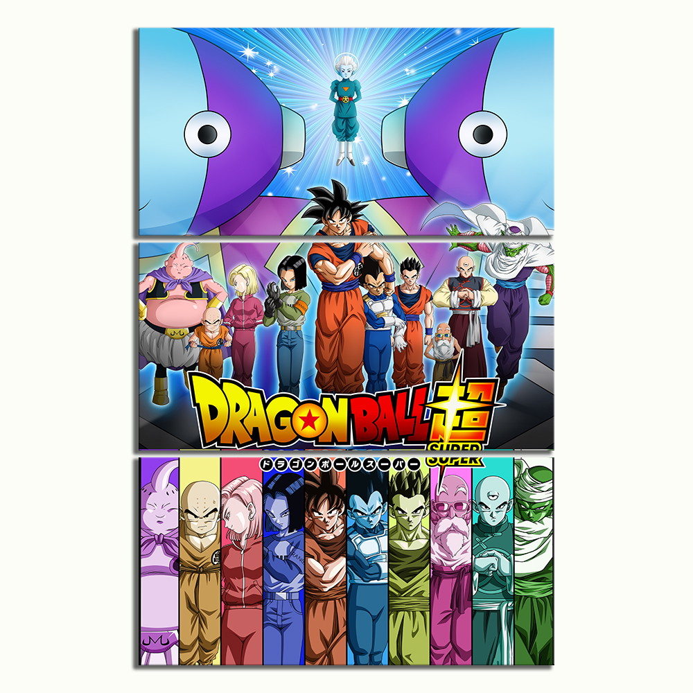 3 Piece Anime Movie Posters Universe Survival Dragon Ball Super Animation Art Canvas Paintings for Home Decor 1