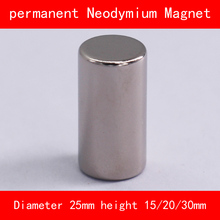 cylinder Magnet diameter 25mm height 15mm 20mm 30mm n35 Rare Earth strong NdFeB permanent Neodymium Magnet цены