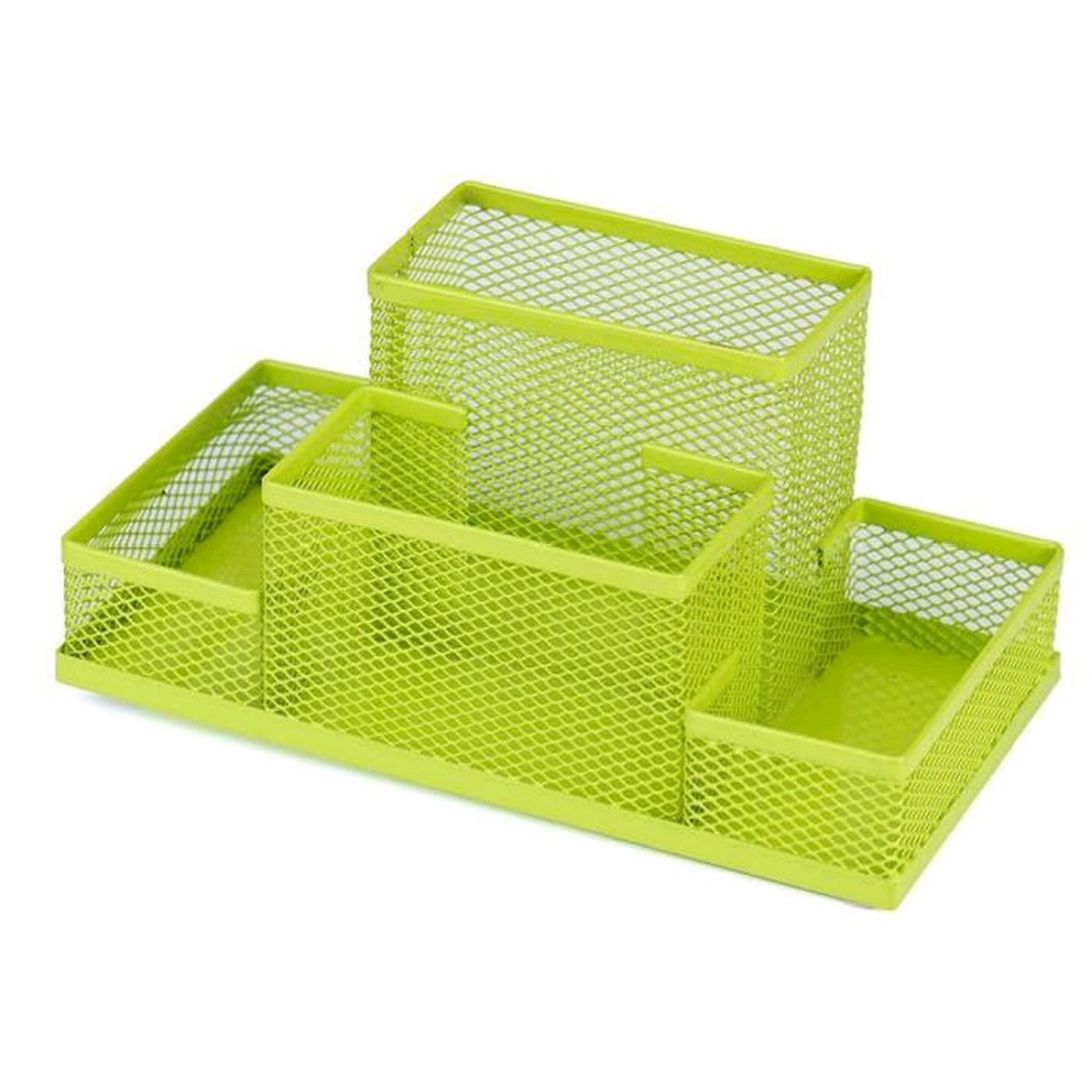 Multi-Purpose Metal Pen Holder Pencils Stationery Storage Box Pencil holder Office supplies Organizer Green Box cute cat pen holders multifunctional storage wooden cosmetic storage box memo box penholder gift office organizer school supplie