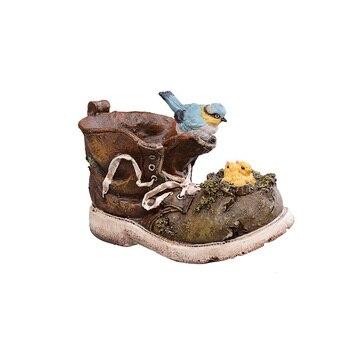 Blumentöpfe Aus Harz | Vintage Harz Schuh Blume Topf Ornamente Vogel Schuhe Miniatur Handwerk Retro Blume Topf Schuhe Figuren Home Decor Zubehör Geschenke