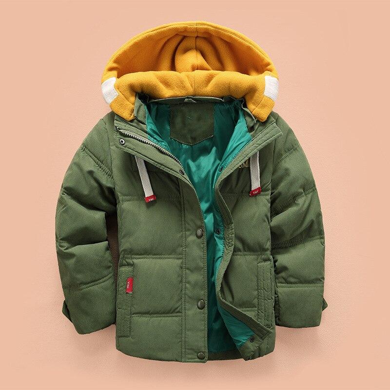 Boys Winter Coat Kids Hooded Jacket Children's Clothing For Boys 3 4 5 6 8 10 Years Children Plus Velvet Jacket 2019 New 4