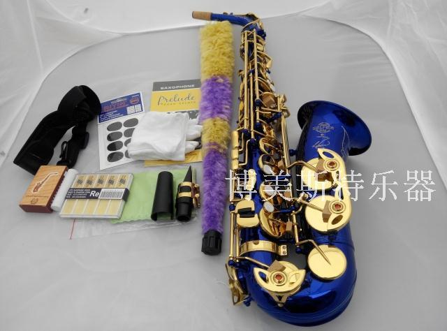Alto Saxophone FREE SHIPPING EMS SELMER 54 blue french horn alto saxophone wind E flat blue Sax taiwan saxophone selmer 80ii alto saxophone musical instrument saxophone antique copper wind shipping
