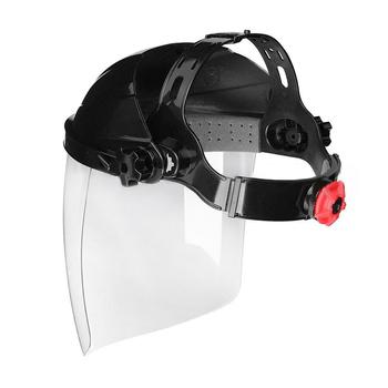 Przezroczyste pcv Face Eye Protect Shield spawacze słuchawki ochronne maski spawalnicze kaski ochronne z wyposażeniem ochronnym tanie i dobre opinie None 210mm Full Welding Helmets