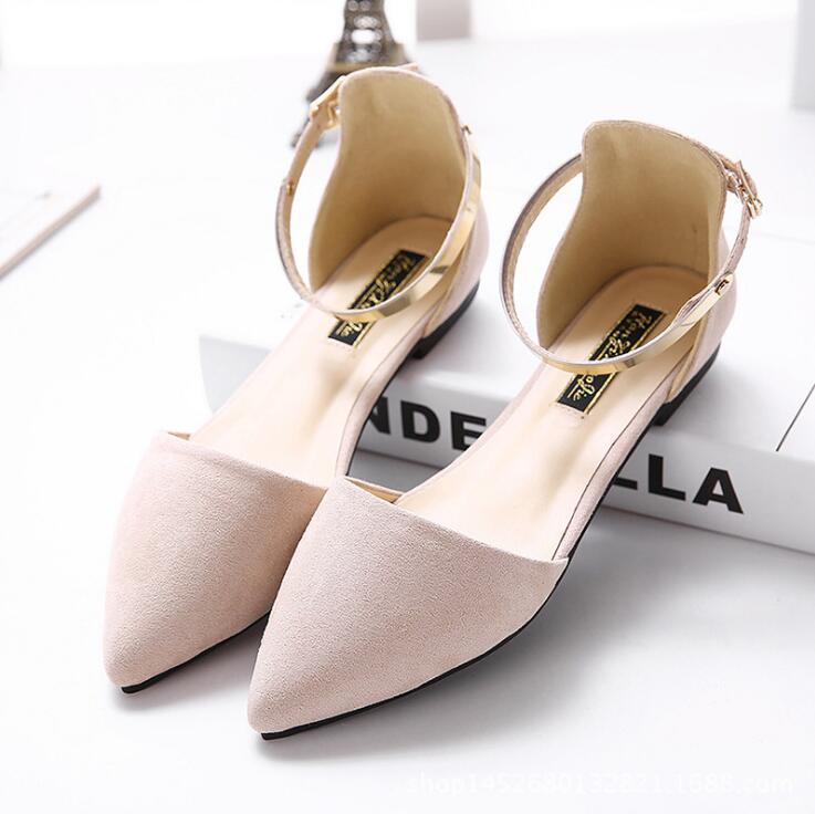 De Pointu Chaussures Dames Sandales noir Boucle Appartements Mocassins À beige Ballet Bride Rose Femmes noir Plates Avec Cheville rose Beige Métallique La Bout EFwqpZ5