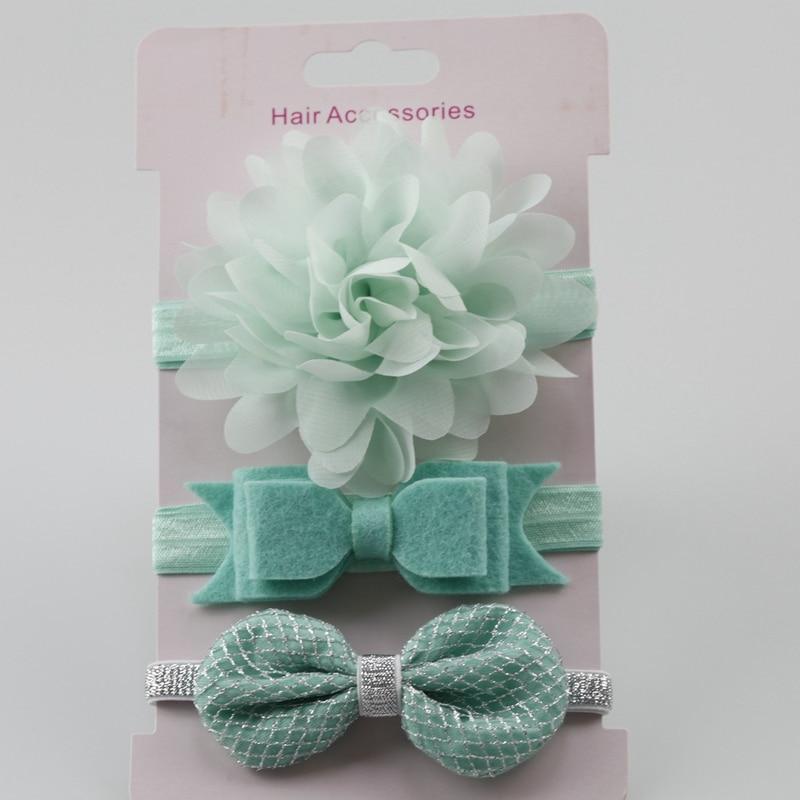 3 Pcs Bayi perempuan Elastis Bunga Headband Karet Anak-anak Bayi - Pakaian bayi - Foto 3