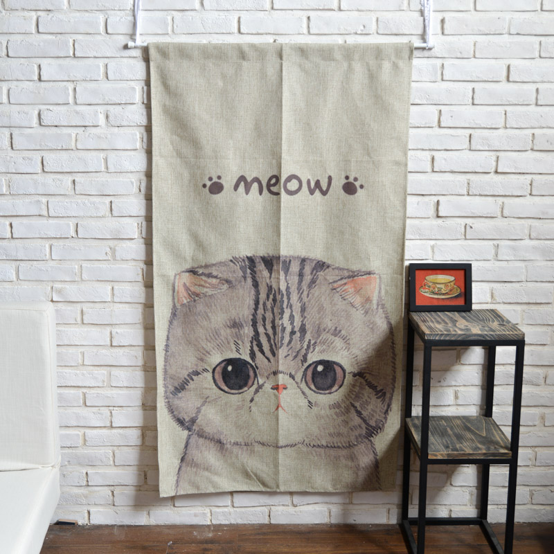 Aliexpress Cute Kitchen Curtains Cat Kids Room Divider Rideaux Moderne Home Decor 85 Cm X 150 From Reliable