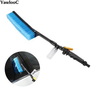 Image 1 - 洗車ブラシ自動車外装格納式ロングハンドル水流スイッチ泡ボトル車のクリーニングブラシ