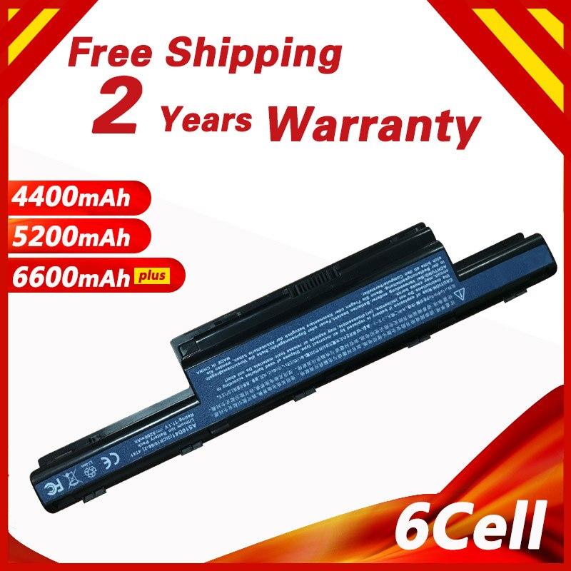 ¡6 celdas de batería del ordenador portátil para Acer 31CR19/652 AK.006BT! 075 AS10D31 AS10D3E AS10D51 AS10G3E V3 E1 4741, 4743, 4749, 4750, 4752, 4755, 4771