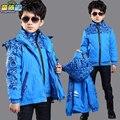 De los niños niño ropa masculina primavera y otoño niño prendas de vestir exteriores de la rebeca niño general prendas de vestir exteriores 2016 de invierno de la chaqueta al aire libre