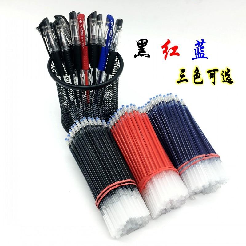 100pcs/lot gel pen ink 0.5 bullet needles black red blue water refill