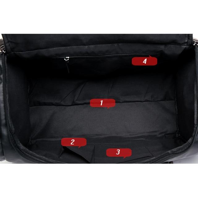 MAGIC UNION New Men's Leather Travel Bags Handbags for Men Shoulder Bags Large-Capacity Big Bag Travel Tote for Business Trip 4