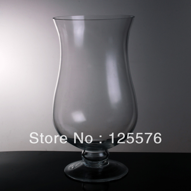 Item A2 Dia175 X H30cm Footed Glass Candlholderhurricane Lamp