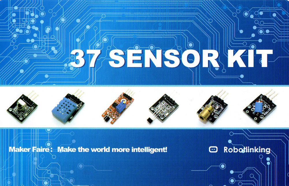 37 En 1 KITS SENSOR para ARDUINO alta calidad envío gratis (funciona con oficial para placas Arduino)