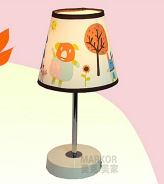 Дети детская тумбочка лампа дети спальня стиль сада светодиодные Настольные Лампы